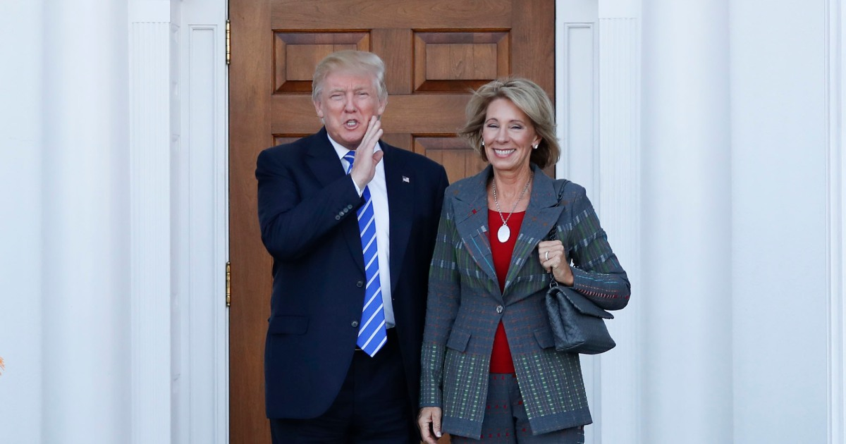 Conflicts Of Devos Donald Trump Betsy >> Trump S Billionaire Education Secretary Has Been Trying To Gut