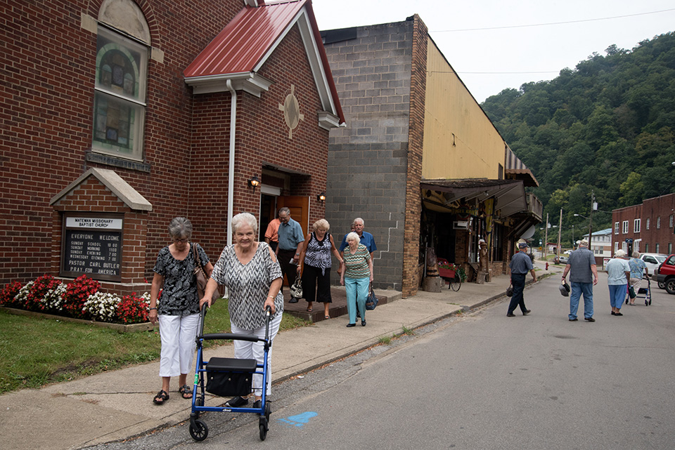 After church in Matewan, West Virginia