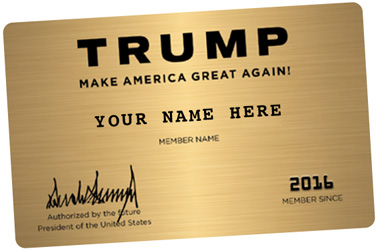 Big Sale In Progress On Trump Gold Executive Membership Cards