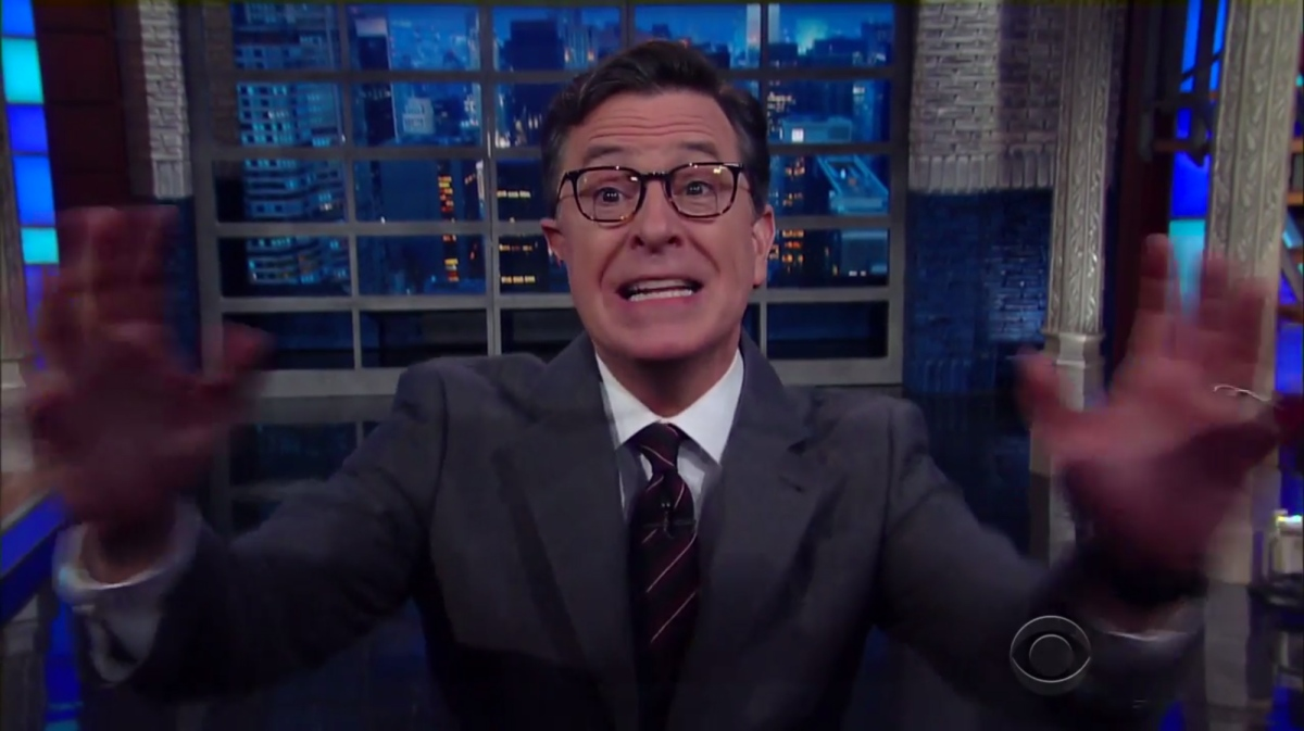 Stephen Colbert is your moral guide and your outrage. This monologue is for the ages.