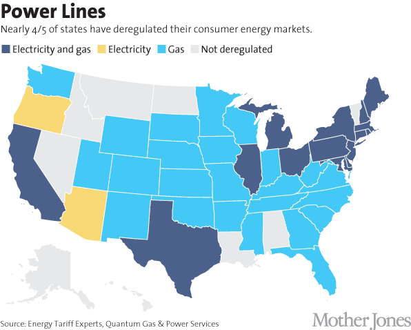 Electric Shadyland How Power Companies Rip You Off Mother Jones - Map of electric utilities in the us