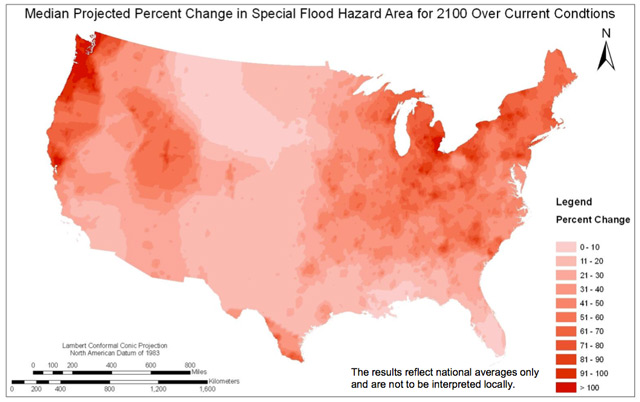FEMA Report Climate Change Could Increase Areas At Risk Of Flood - Us flood risk map