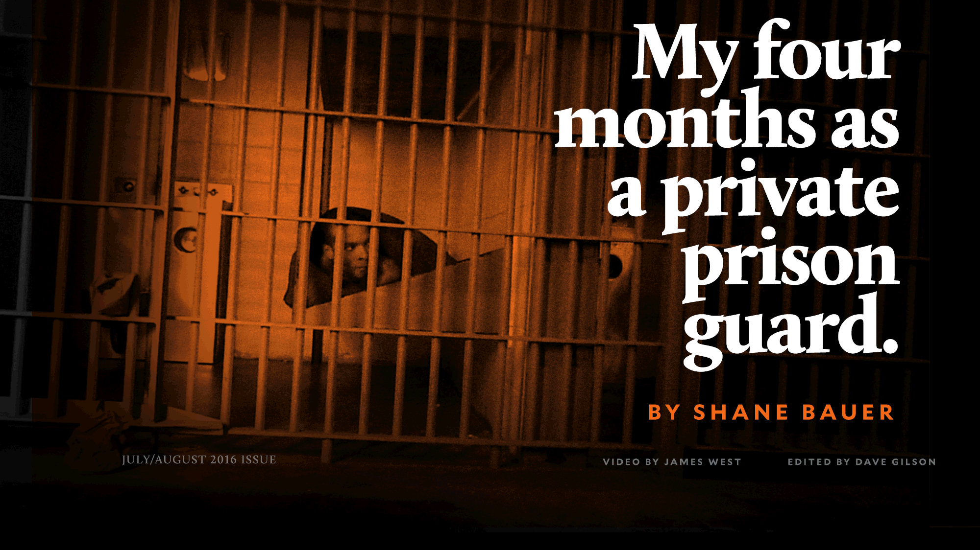 my four months as a private prison guard  a mother jones