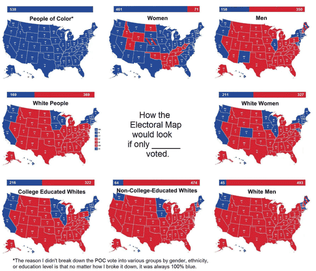 These Maps And Charts Show Where Clinton And Trumps Essential - Us map of voting results by county