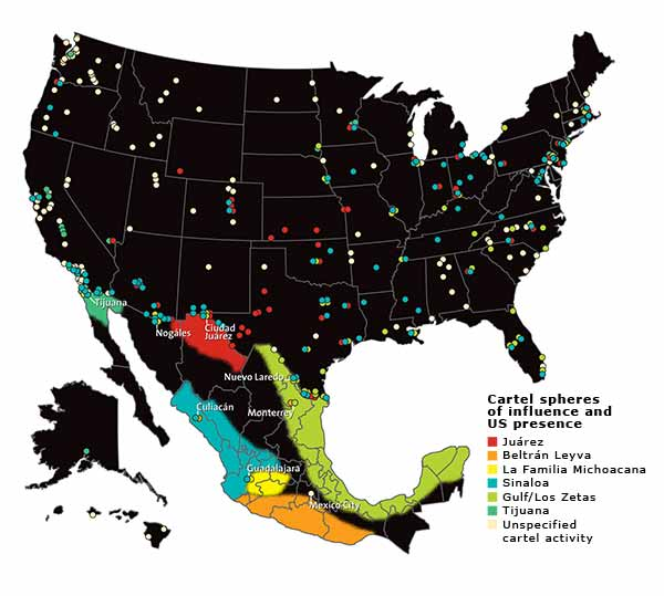 Cartels In Mexico Map.The Cartels Next Door Mother Jones