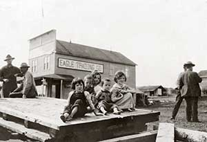 Children in Eagle circa 1900.
