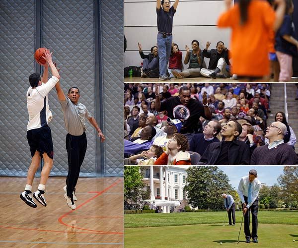Obama sports photo montage: Obama sports photo montage