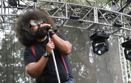 Reggie Watts, unofficial public safety officer. Sydney Brownstone/Mother Jones