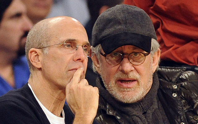 Dreamworks executive Jeff Katzenberg, left, and Steven Spielberg both gave $1 million to the pro-Obama super-PAC in September. Rose Palmisano/The Orange County Register/ZUMAPRESS.com