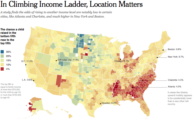 Map Social Mobility In America City By City Mother Jones