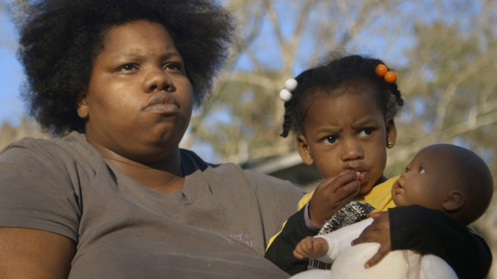 """April, a 24-year-old single mother and a central character in """"Jackson,"""" prepares for the birth of her fifth child.Jackson Documentary/Maisie Crow"""