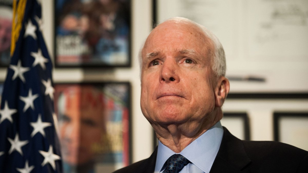 John S McCain the proud naval aviator who climbed from depths of despair as a prisoner of war in Vietnam to pinnacles of power as a Republican
