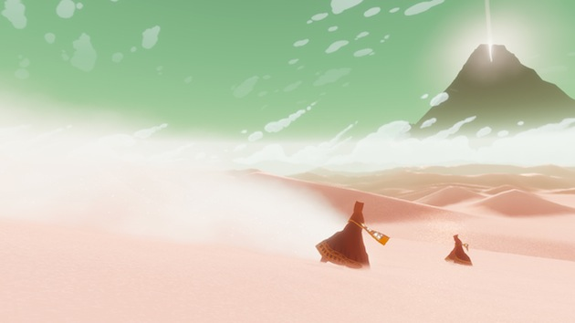 Still from the acclaimed game Journey