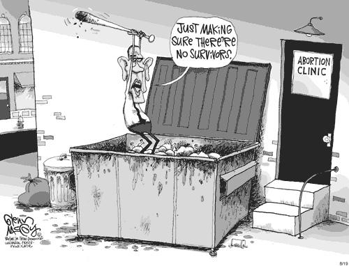 Image result for obama abortion cartoon