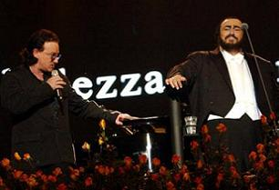 Bono and Pavarotti