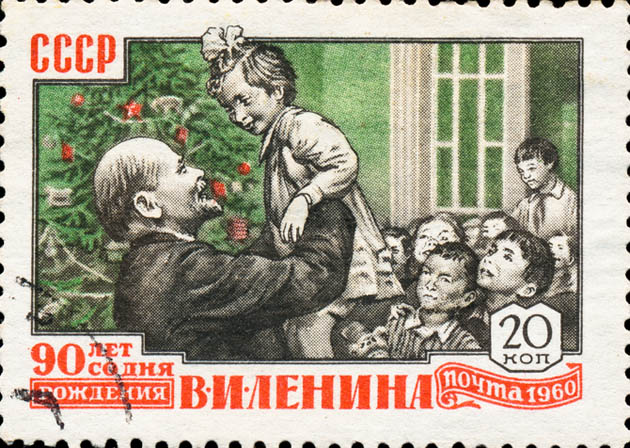 Lenin and children