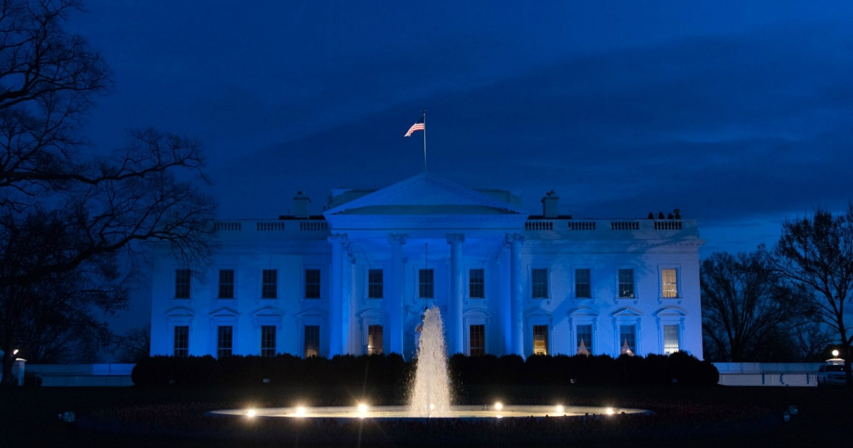 In Light Of Autism Comments White House >> The White House Turned Blue For Autism Awareness That S Actually