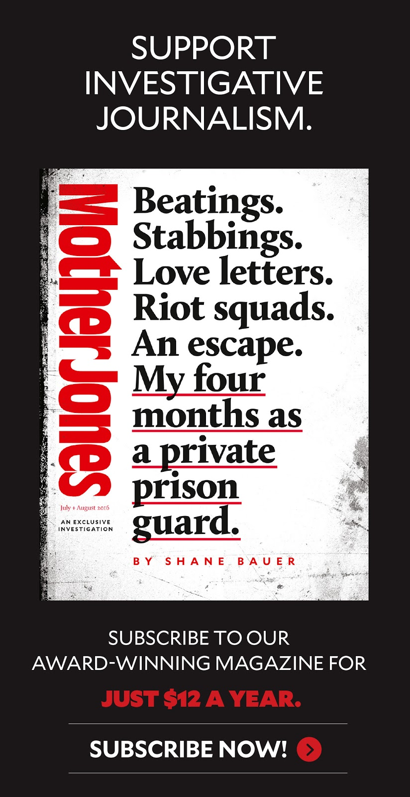 My Four Months as a Private Prison Guard: A Mother Jones
