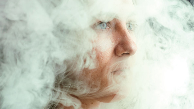 face in smoke