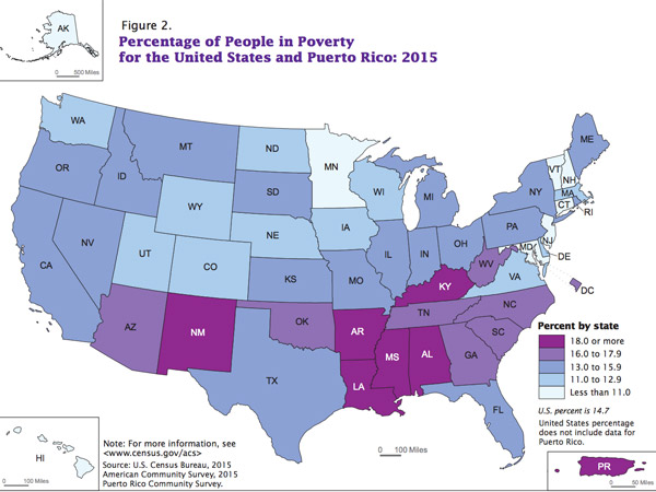 Incomes Are Up And Poverty Is Down But Guess Which Americans Have - Us map of deep poverty