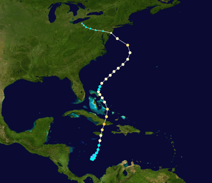 Track of Superstorm Sandy, 2012