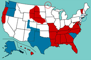 ModernDay US Secessionists An Interactive Map  Mother Jones - Us map dates of secession