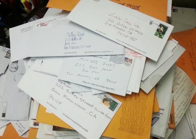 You've Got Snail Mail! Handwritten Letters To Mother Jones
