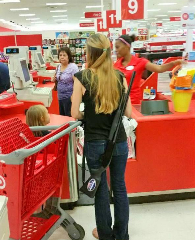 open carry guns in Target