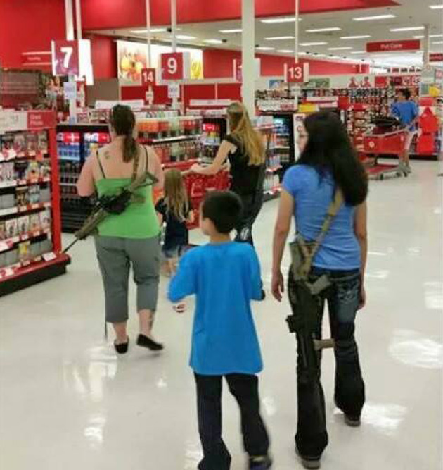 target moms with guns open carry