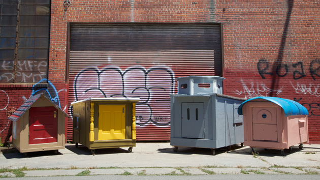 Tiny Houses For The Homeless Crafted From Recycled Materials By Oakland Artist Gregory Kloehn Brian Reynolds