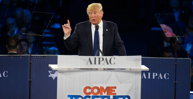 Image result for trump aipac