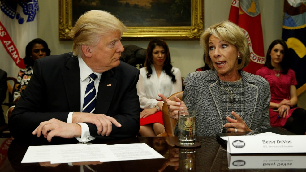 Devos Scraps More Out Of Date Federal >> 9 Ways Betsy Devos And Donald Trump Failed The 100 Day Test Mother