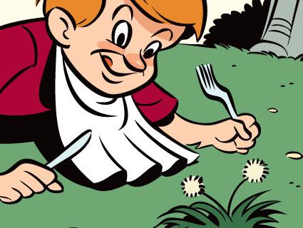 Image result for eating weeds